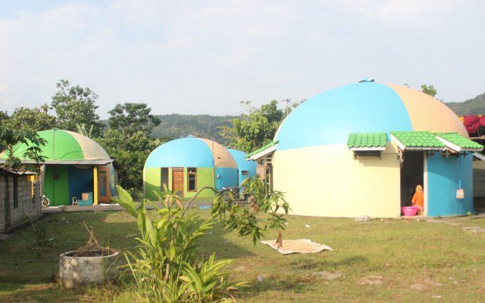 Warna-Warni Rumah Dome jadi Daya Tarik Wisata