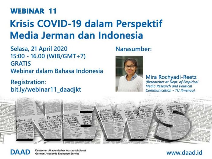 Webinar DAAD: Mengulas Kepercayaan Publik terhadap Pemerintah dan Media di Jerman dan Indonesia