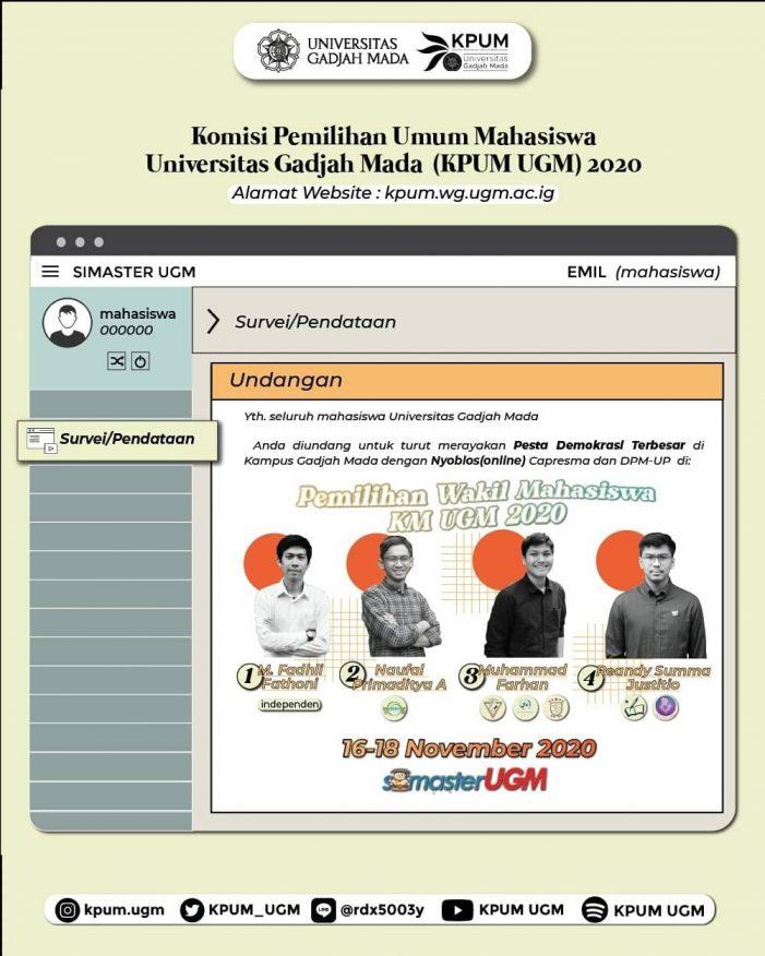 Partisipasi Pemilih Naik 6 Persen, Pemilwa 2020 di Universitas Gadjah Mada Berjalan Lancar