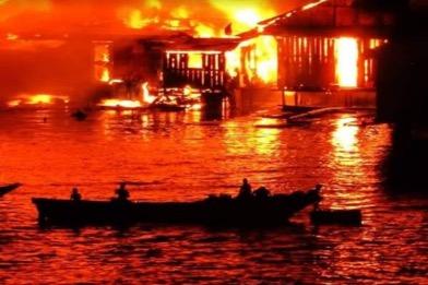 Kebakaran Hebat di Kota Jayapura, 1.000 Warga Terpaksa Tinggal di Pengungsian
