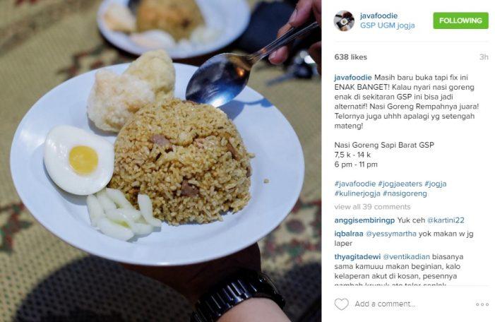 Promosi Kuliner Lewat Instagram di Yogyakarta