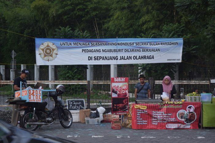 Dilarang, Pasar Sore Ngabuburit di Jalan Olahraga Tetap Berjalan
